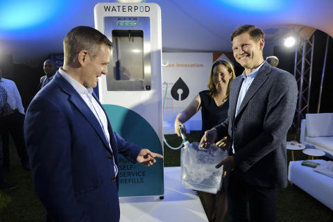 Innovative Waterpod launched as Africa's first affordable drinking water refill station