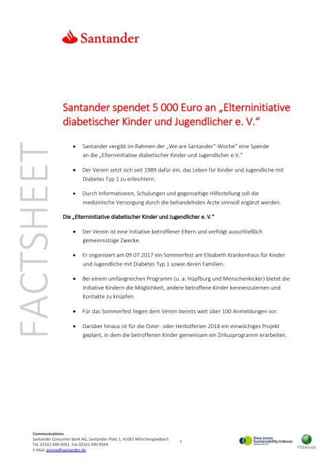 Factsheet Elterninitiative diabetischer Kinder und Jugendlicher e.V.