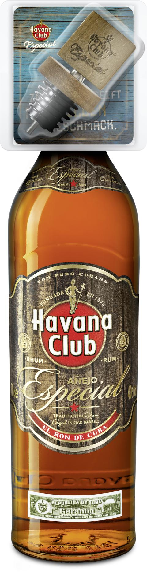 Havana Club Especial mit Ausgießer