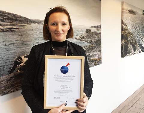 Mariana Morosanu från Jönköping tilldelades Tillsammans-stipendium