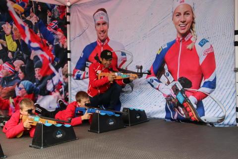 Ole Einar Bjørndalen og Voss skiskyttarlag