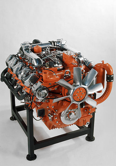 1972 entstand der erste V8-Motor von Scania für das Marinesegment