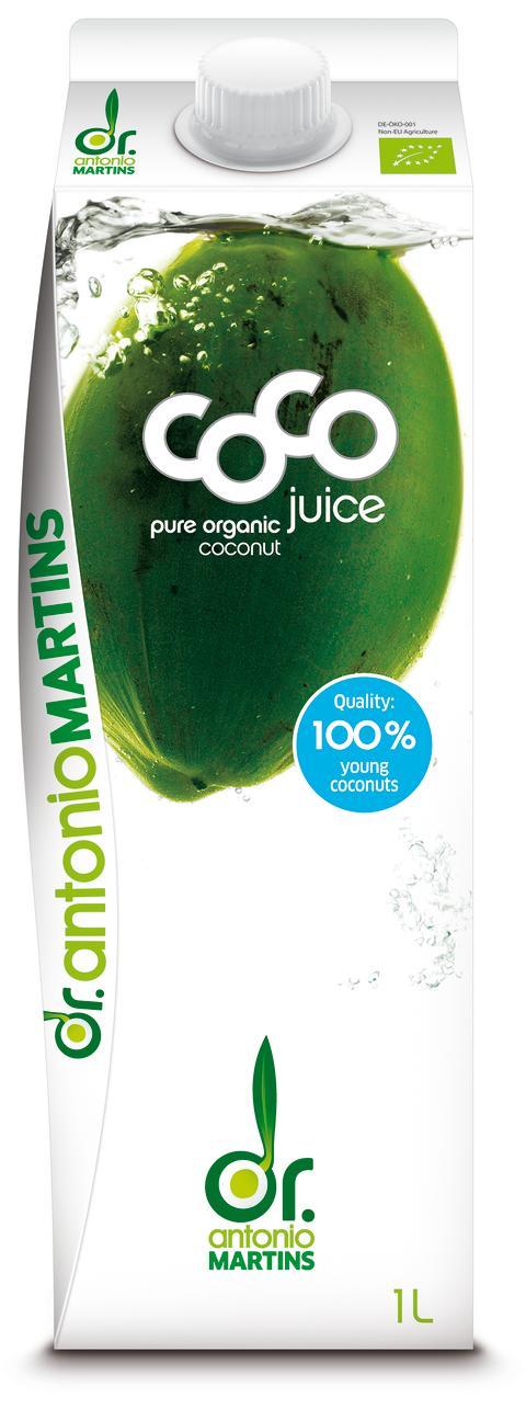 Dr. Martins Coco Juice naturell økologisk 1 liter