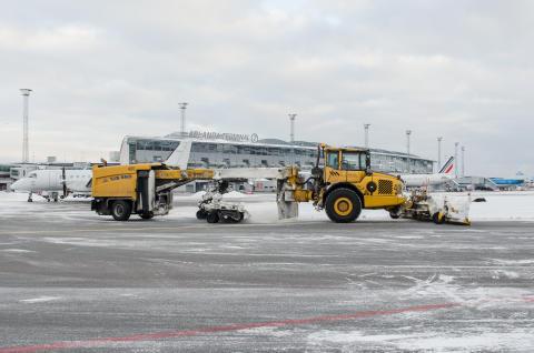Snöröjning Stockholm Arlanda Airport