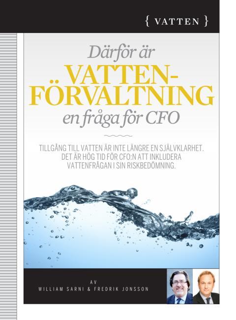 Därför är vattenförvaltning en fråga för CFO