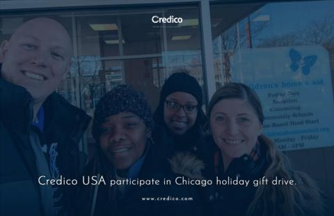 Credico USA participate in sixth holiday gift drive