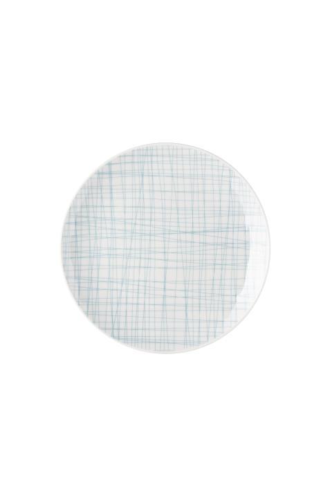R_Mesh_Line Aqua_Plate 21 cm flat