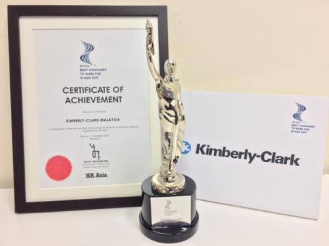 "Kimberly-Clark Malaysia Receives ""Best Companies to Work for in Asia"" Recognition for Third Consecutive Year"