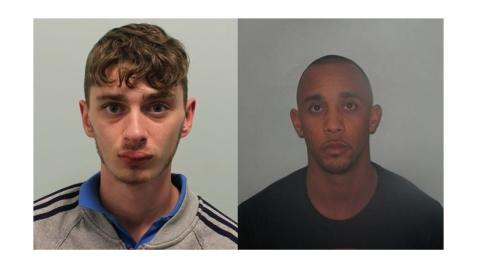 Two men jailed for spraying a noxious substance