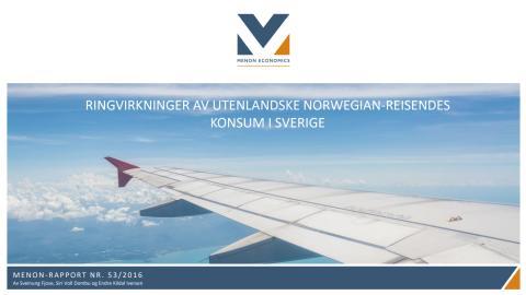 Menon Economics rapport om Norwegians bidrag till Sverige