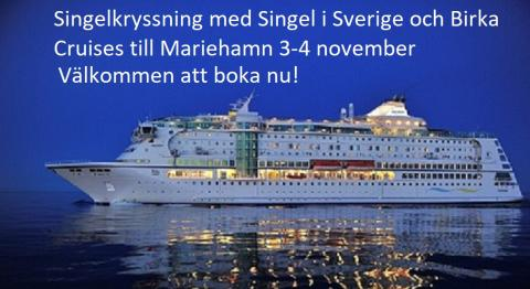 Singelkryssning med Singel i Sverige och Birka Cruises till Mariehamn 3-4 november
