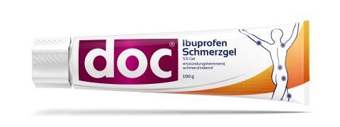 Packungsabbildung doc Ibuprofen Schmerzgel Tube 100 g