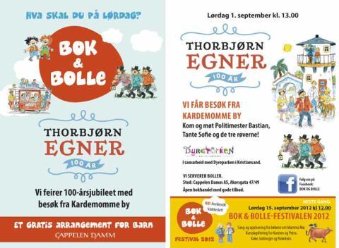 Velkommen til Bok & bolle - Thorbjørn Egner 100 år