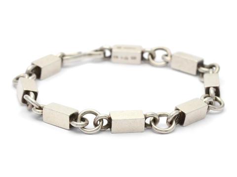 Moderna 12/12, Nr: 127, WIWEN NILSSON, armband, sterling silver, ring- och stavlänk