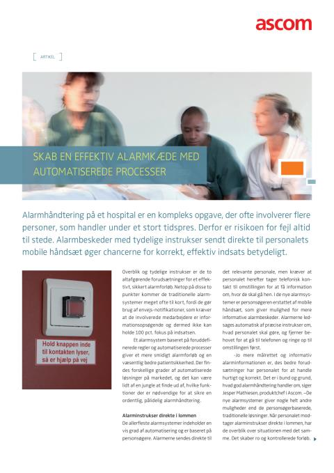 Artikel - Skab en effektiv alarmkæde med automatiserede processer