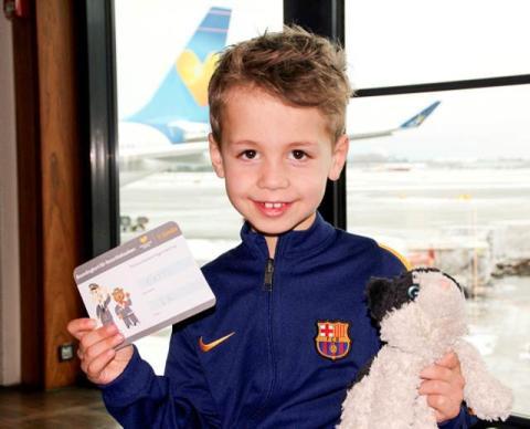 Barnens gosedjur får ett eget boardingkort hos Ving