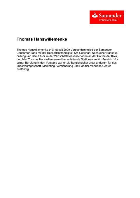 Vita Thomas Hanswillemenke