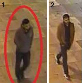 2 CCTV stills of man sought