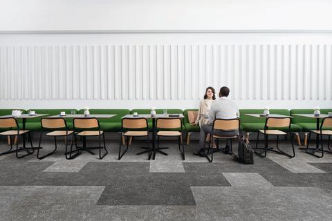 Interface presenterar ny golvkollektion med känsla av betong och terazzo