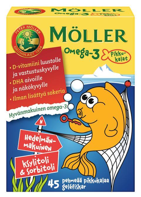 Möller Omega-3 Pikkukalat Hedelmänmakuinen