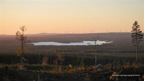 Ny fas i vindkraftparken i Markbygden