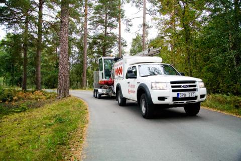 Relacom bygger ett 4,7 mil långt fibernät mellan Uppsala och Alunda