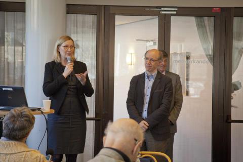 Sofi Lerström och Mark Tatlow berättar om samarbetet på Östersjöfestivalens pressfrukost 15 mars 2013