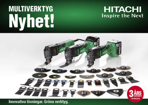 Multiverktyg från Hitachi - för hög precision och super finish!