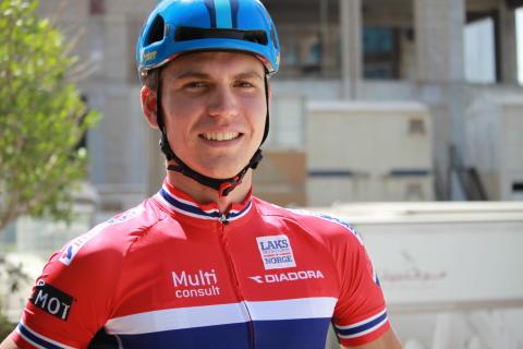 Amund Grøndahl Jansen under sykkel-VM Doha 2016