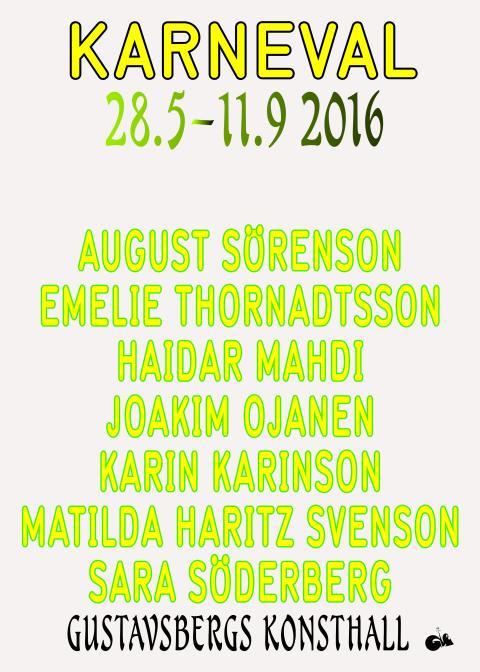 Pressinbjudan KARNEVAL!  Torsdag 26 maj.