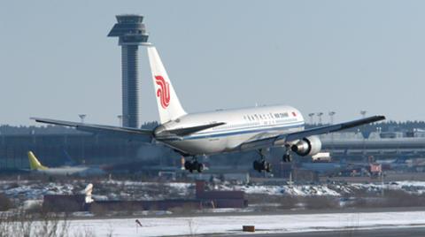 Direktflyg till Kina dagligen
