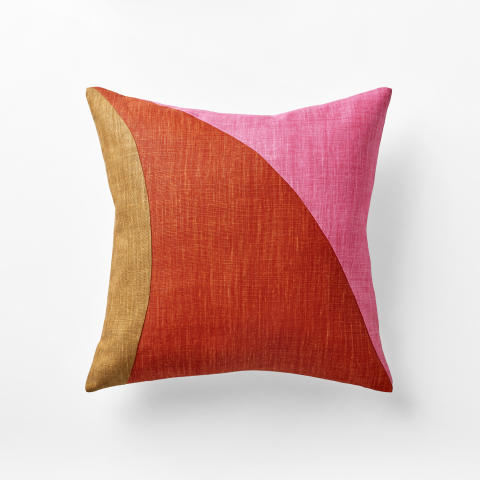 Pillow multi colour red and pink, Via Sallustiana