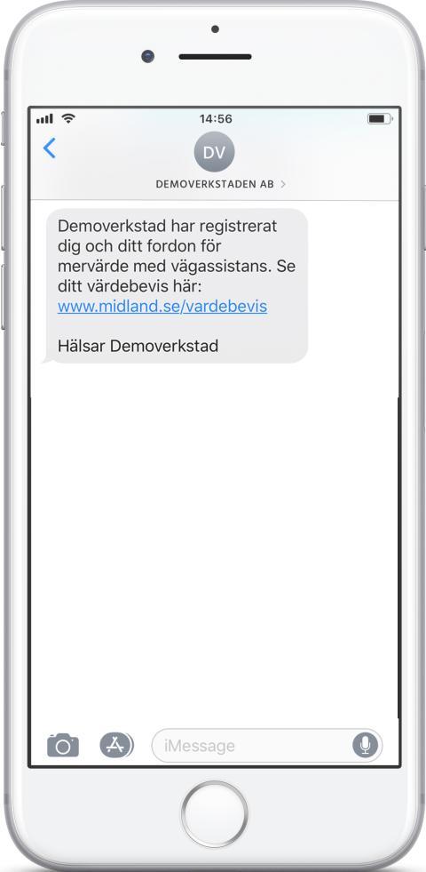 SMS värdebevis