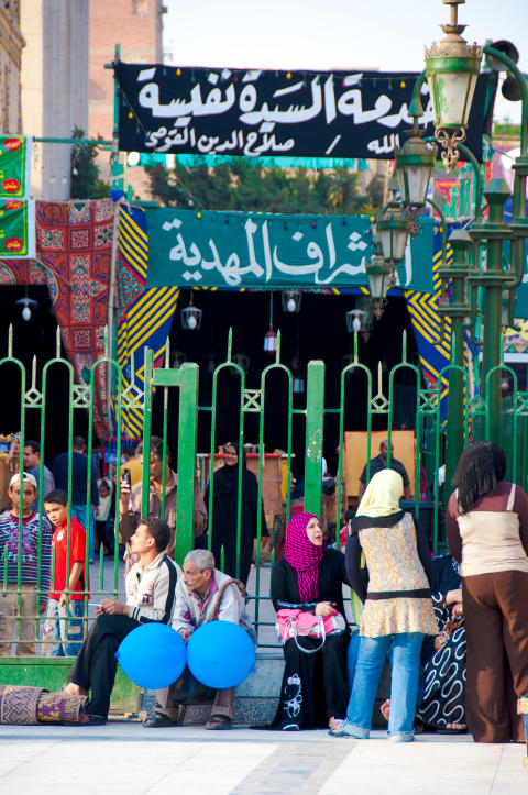 Myllrande basar i Khan el-Khalili