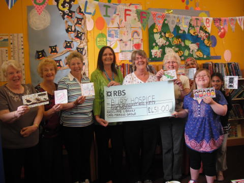 Card craft group raises money for Bury Hospice