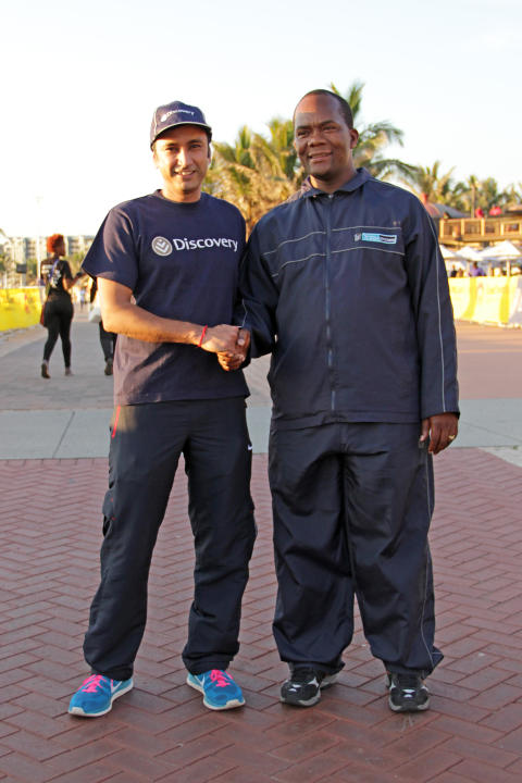 Discovery General Manager of Marketing and The Mayor of Ethekwini Municipality Mr James Nxumulo at the Discovery East Coast Radio Big Walk