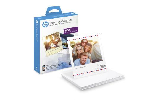 HP Social Media Sticky paper