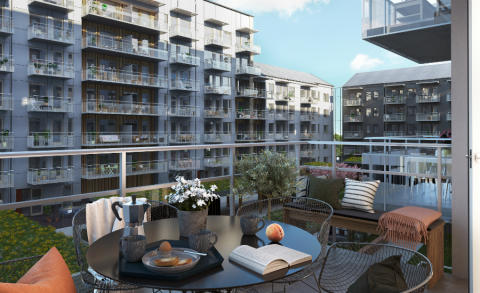 Riksbyggen förbereder för 180 nya lägenheter i Mölndal innerstad