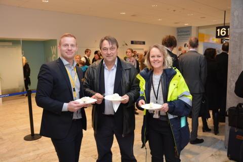 Göteborg Landvetter Airport firar passagerare nummer 6 000 000 år 2015.