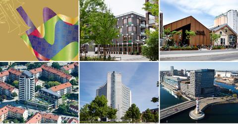 Fem projekt tävlar om Stadsbyggnadspriset och Gröna Lansen 2017