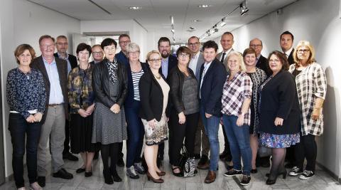 Ledamöter i styrgruppen för regionbildning.