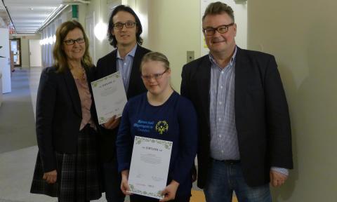 2013 års Special Olympics-stipendium utdelat