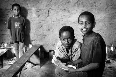Bistand for barn skal bygge en skole for 600 elever i Etiopia.