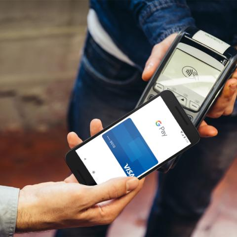 Google Pay mit Visa_