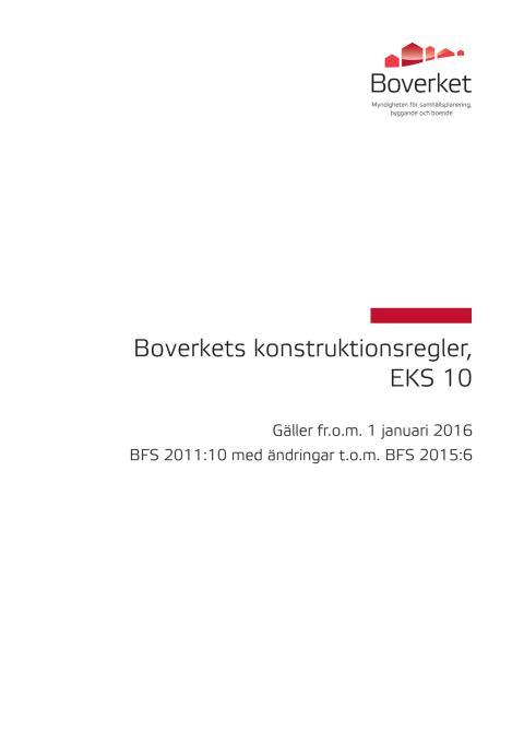 Boverkets konstruktionsregler eks-10