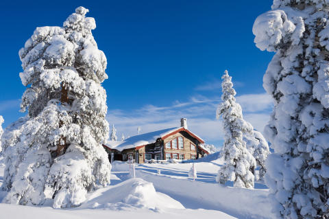 Lækker ski-in ski-out i Sälen.