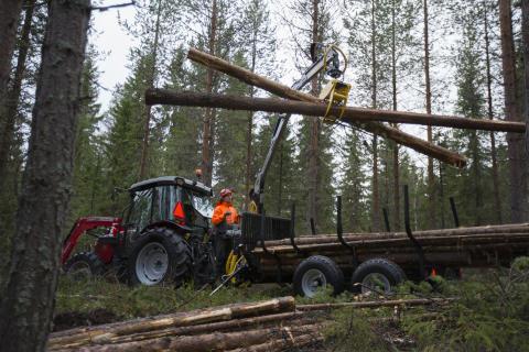 Trejon Multiforest vagn MF60 och vikkran V4300