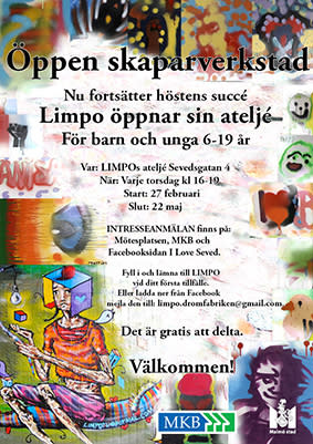 Graffitikonstnären LIMPO fortsätter med Öppen skaparverkstad på Seved