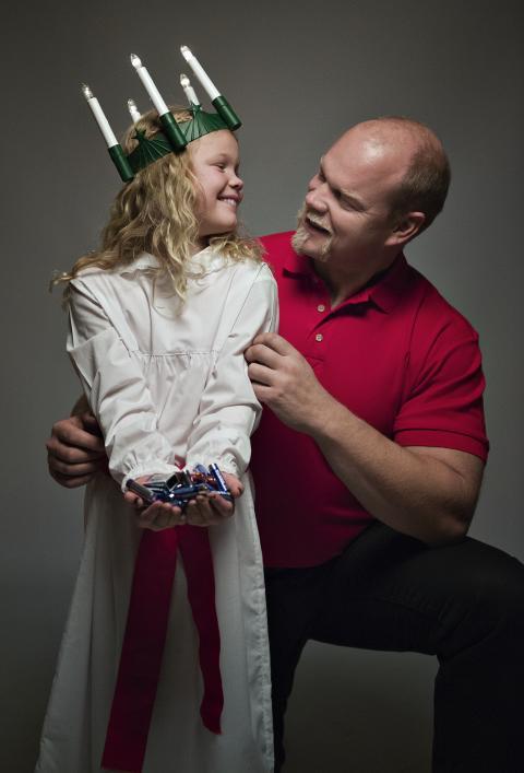 Magnus Samuelsson och dottern Sara Samuelsson