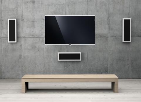 DLS Flatbox højttalere med Loewe Compose tv
